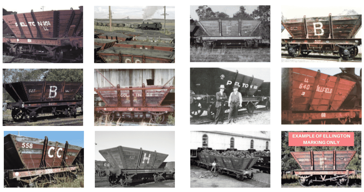 coal hoppers grouped
